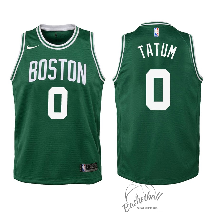 Choisir Maillot NBA Enfant Boston Celtics NO.0 Jayson Tatum Vert Icon 2018-19