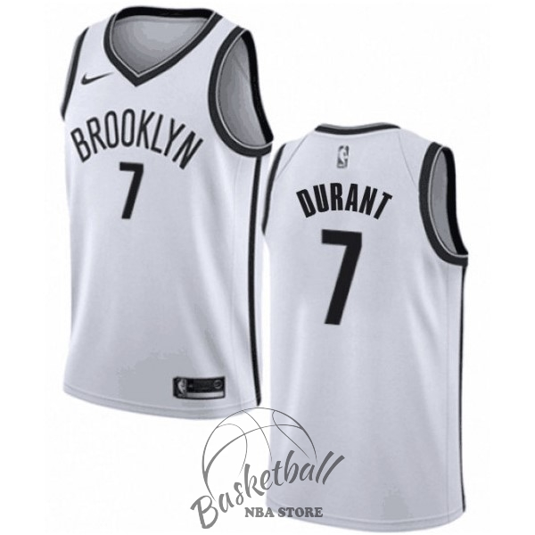 Choisir Maillot NBA Enfant Brooklyn Nets NO.7 Kevin Durant Blanc Association 2019-20