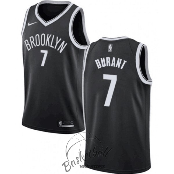 Choisir Maillot NBA Enfant Brooklyn Nets NO.7 Kevin Durant Noir Icon 2019-20