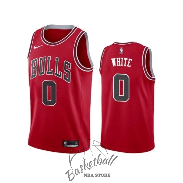 Choisir Maillot NBA Nike Chicago Bulls NO.0 Coby White Rouge Icon 2019-20