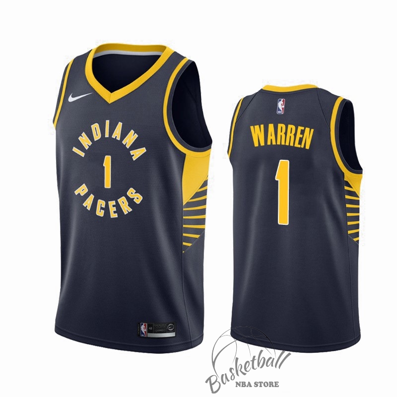 Choisir Maillot NBA Nike Indiana Pacers NO.1 T.J. Warren Gray Marine Icon 2019-20