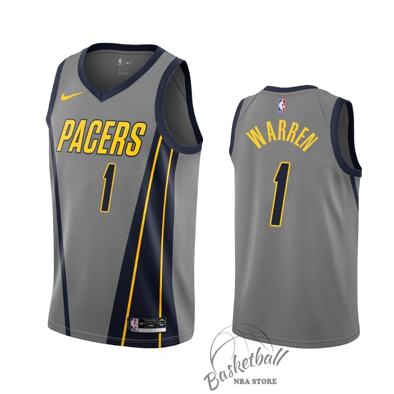 Choisir Maillot NBA Nike Indiana Pacers NO.1 T.J. Warren Gray Nike Gris Ville 2019-20