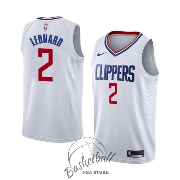 Choisir Maillot NBA Nike Los Angeles Clippers NO.2 Kawhi Leonard Blanc Association 2019-20