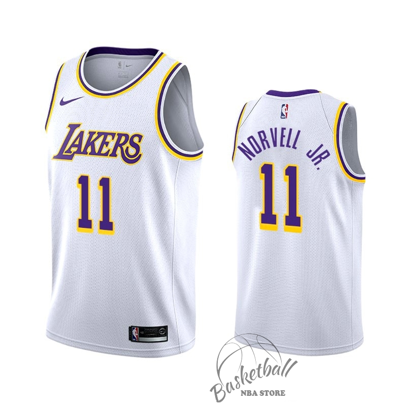 Choisir Maillot NBA Nike Los Angeles Lakers NO.11 Zach Norvell Jr Blanc Association 2019-20