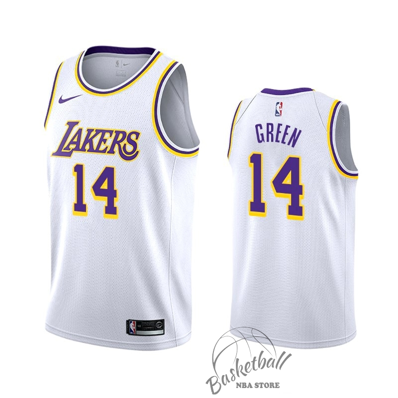 Choisir Maillot NBA Nike Los Angeles Lakers NO.14 Danny Green Blanc Association 2019-20