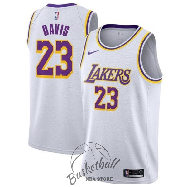 Choisir Maillot NBA Nike Los Angeles Lakers NO.23 Anthony Davis Blanc Association 2019-20