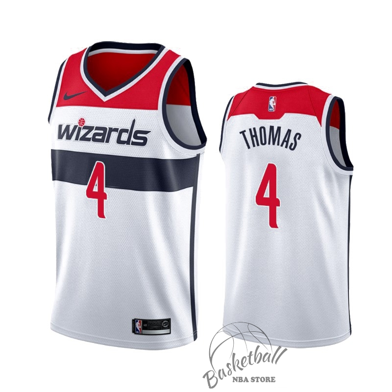 Choisir Maillot NBA Nike Washington Wizards NO.4 Isaiah Thomas Blanc Association 2019-20