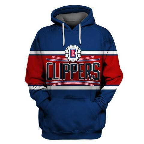 Choisir Hoodies NBA Los Angeles Clippers Bleu