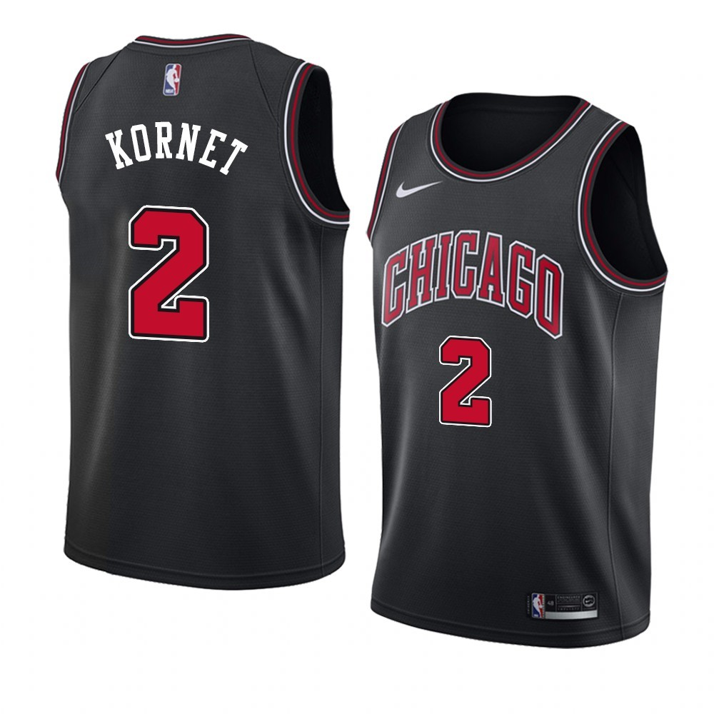 Choisir Maillot NBA Nike Chicago Bulls NO.2 Luke Kornet Noir Statement 2019-20