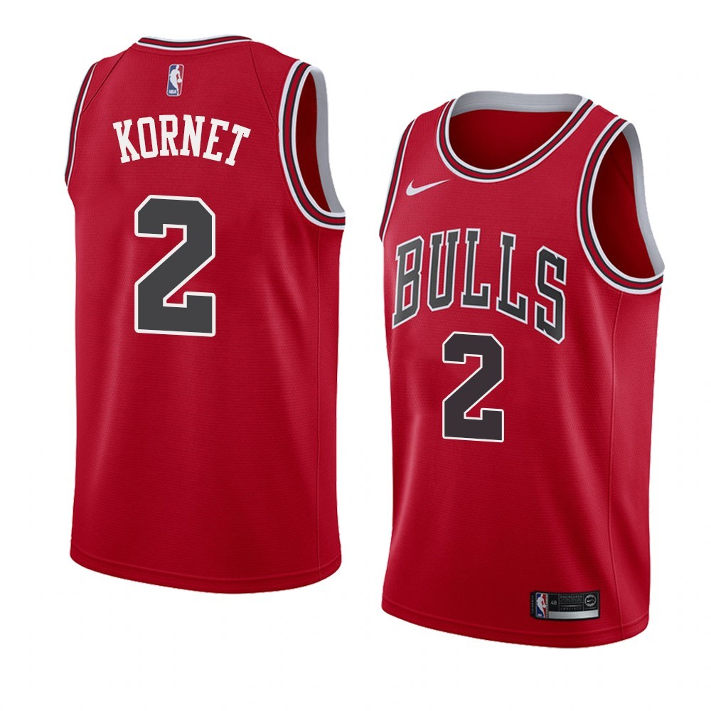 Choisir Maillot NBA Nike Chicago Bulls NO.2 Luke Kornet Rouge Icon 2019-20
