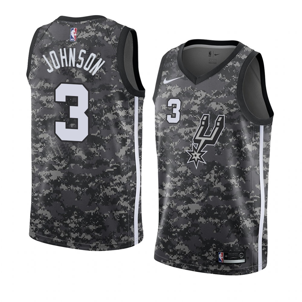 Choisir Maillot NBA Nike San Antonio Spurs NO.3 Keldon Johnson camo Ville 2019-20