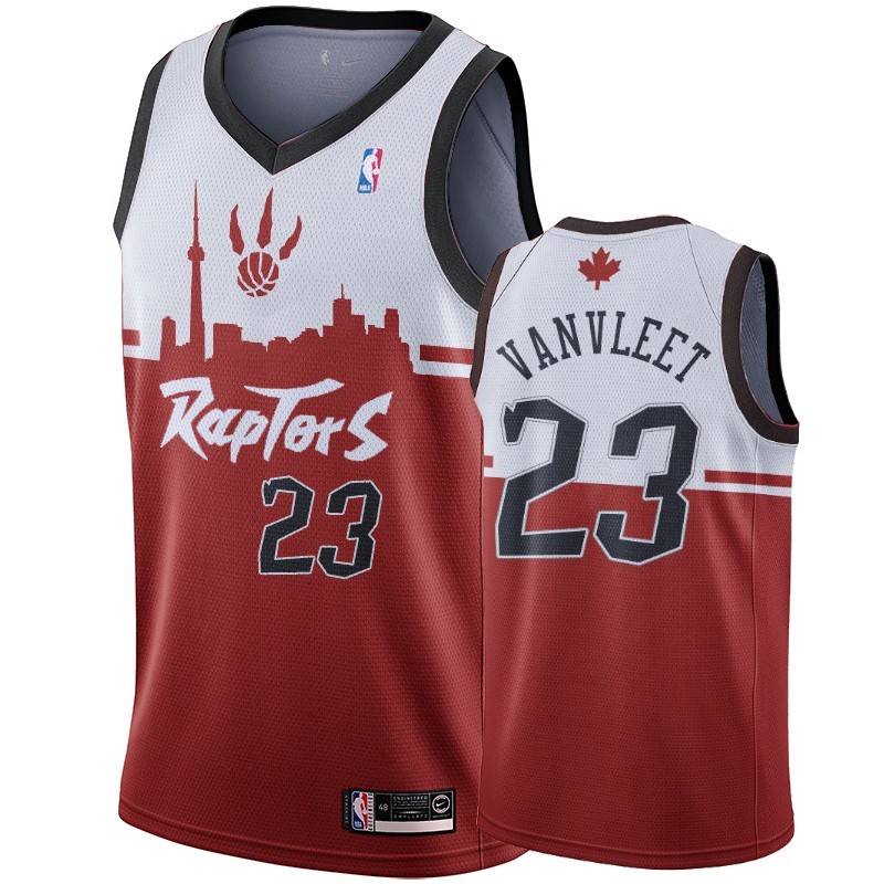 Choisir Maillot NBA Nike Toronto Raptors NO.23 Fred VanVleet Rouge Hometown Collection