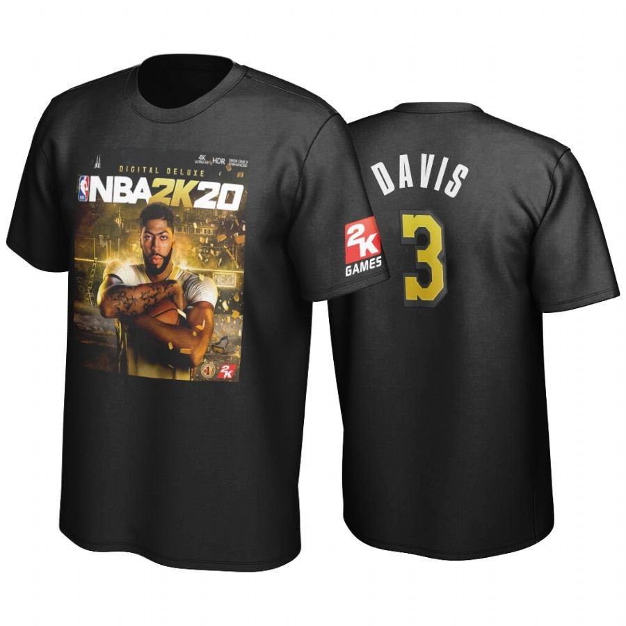 Choisir T-Shirt NBA Golden State Los Angeles Lakers Anthony Davis Noir
