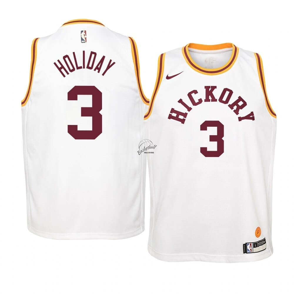 Choisir Maillot NBA Enfant Indiana Pacers NO.3 Aaron Holiday Nike Retro Blanc