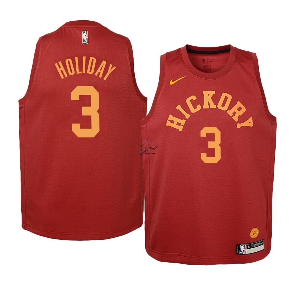 Choisir Maillot NBA Enfant Indiana Pacers NO.3 Aaron Holiday Nike Retro Bordeaux