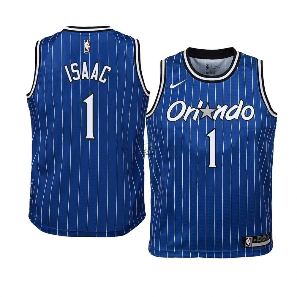 Choisir Maillot NBA Enfant Orlando Magic NO.1 Jonathan Isaac Bleu Hardwood Classics