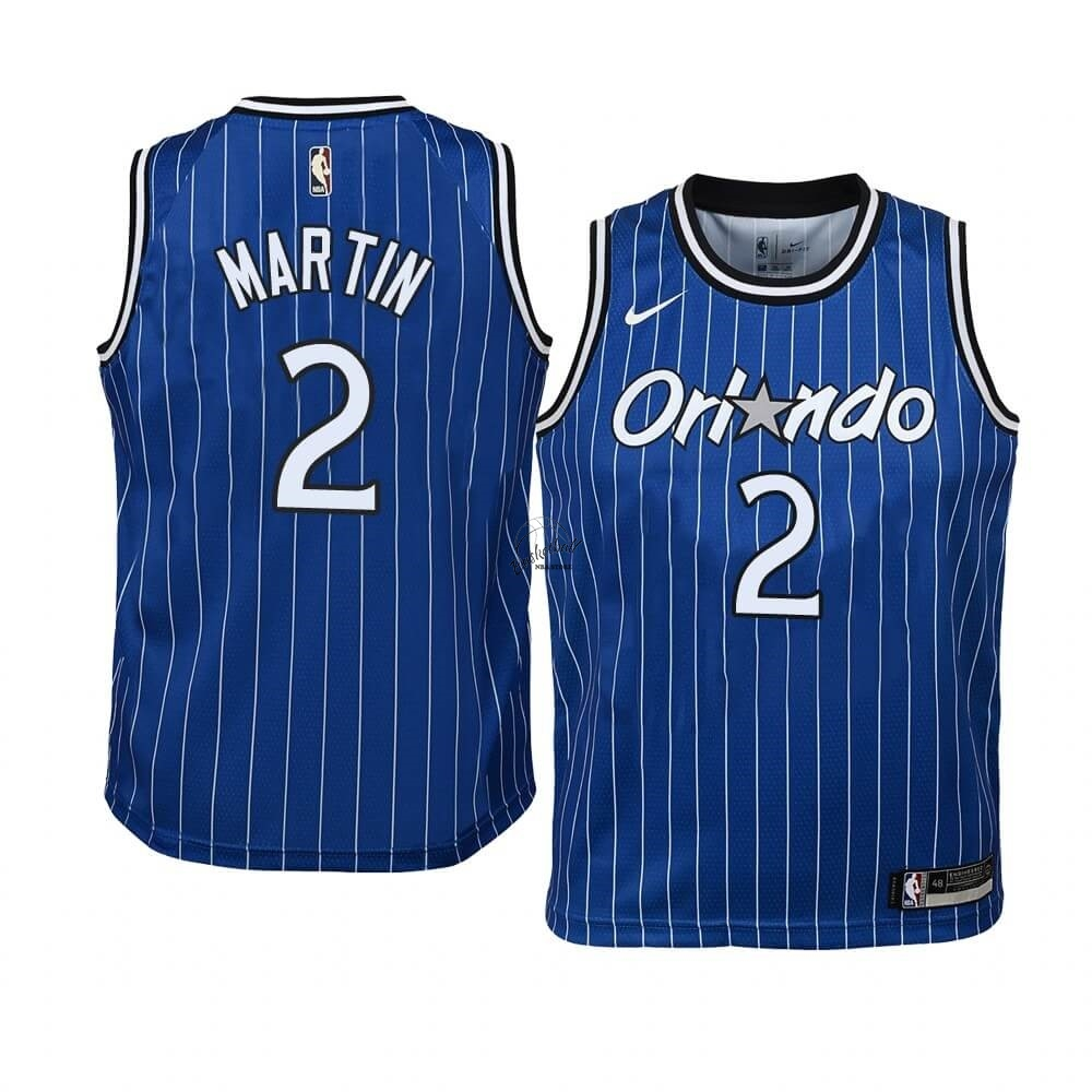 Choisir Maillot NBA Enfant Orlando Magic NO.2 Jarell Martin Bleu Hardwood Classics