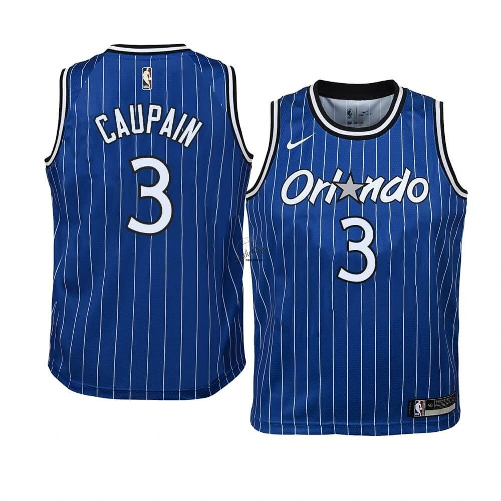 Choisir Maillot NBA Enfant Orlando Magic NO.3 Troy Caupain Bleu Hardwood Classics