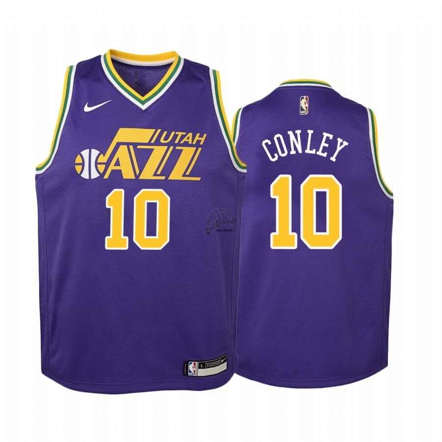 Choisir Maillot NBA Enfant Utah Jazz NO.10 Mike Conley Pourpre Hardwood Classics
