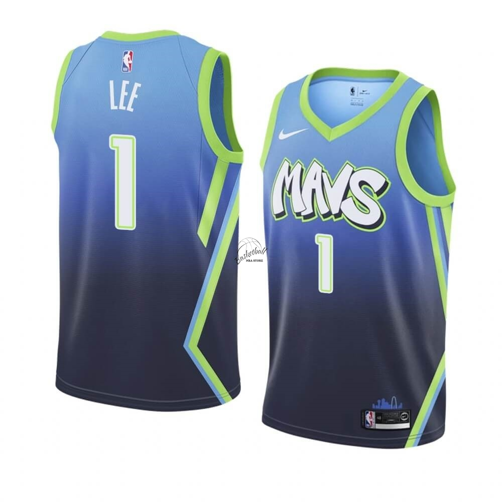 Choisir Maillot NBA Nike Dallas Mavericks NO.1 Courtney Lee Nike Bleu Ville 2019-20