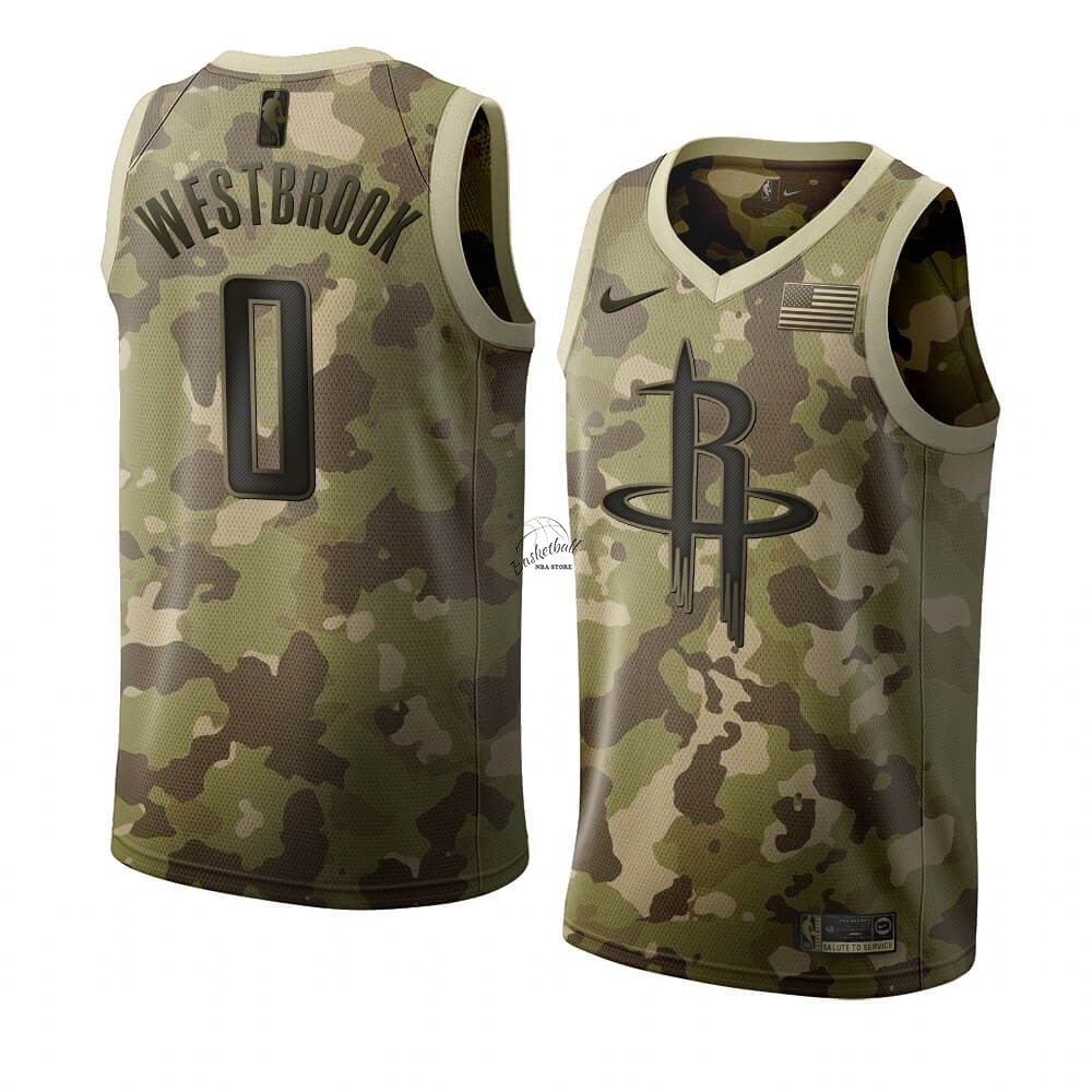 Choisir Maillot NBA Nike Houston Rockets NO.0 Russell Westbrook Camouflage 2019