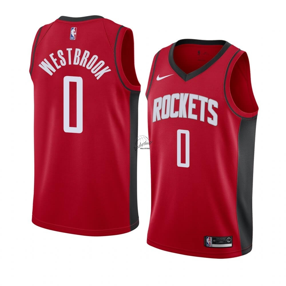Choisir Maillot NBA Nike Houston Rockets NO.0 Russell Westbrook Rouge Icon 2019-20