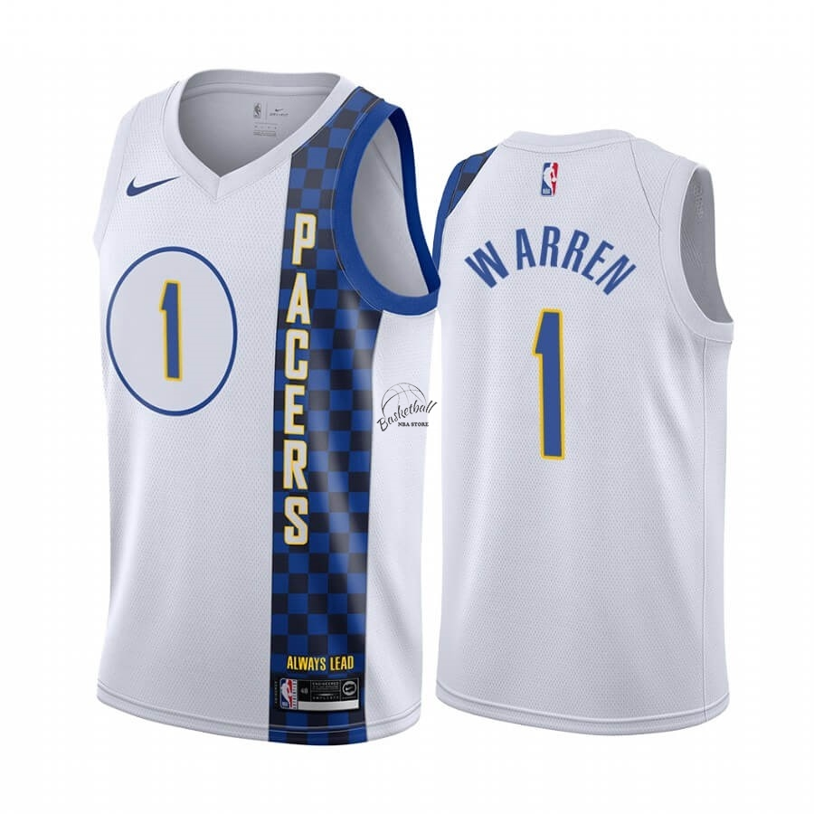 Choisir Maillot NBA Nike Indiana Pacers NO.1 T.J. Warren Nike Blacno Ville 2019-20
