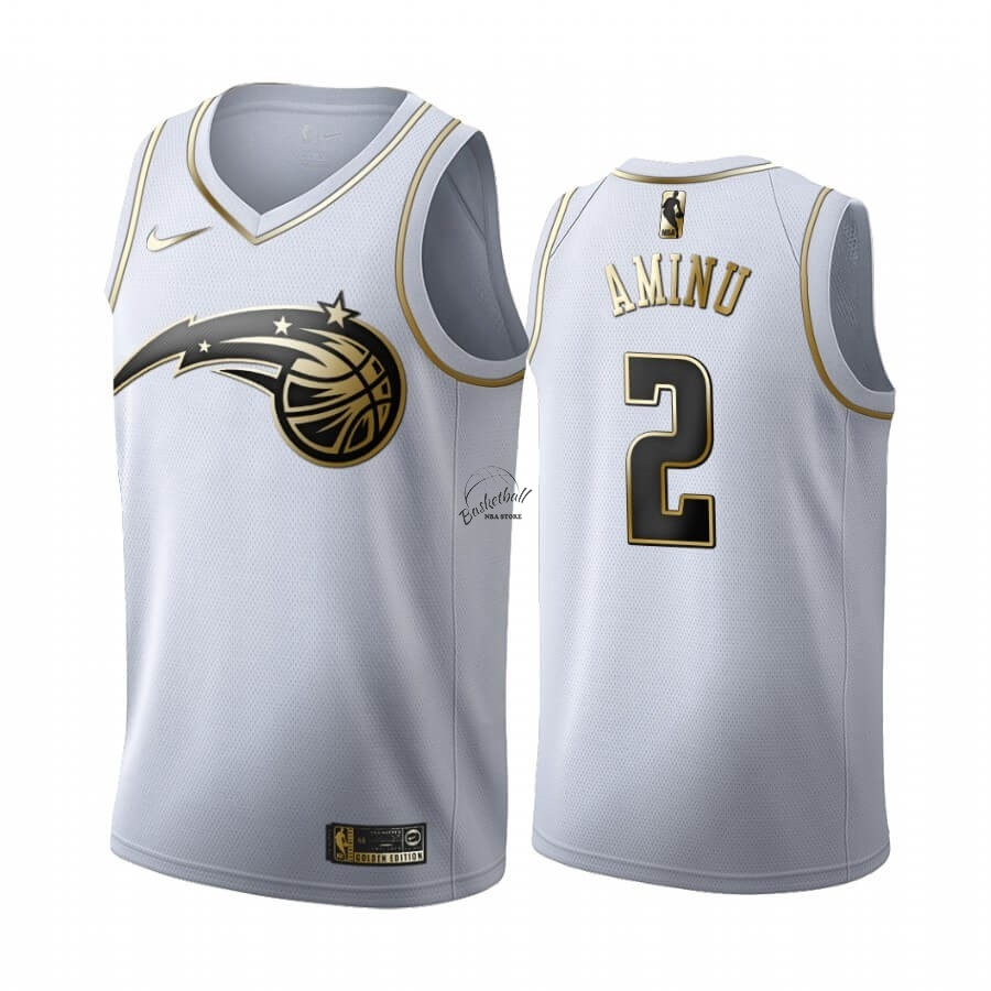 Choisir Maillot NBA Nike Orlando Magic NO.2 Al-Farouq Aminu Blanc Or 2019-20
