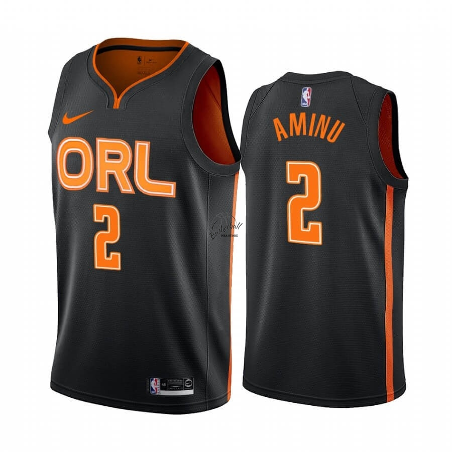 Choisir Maillot NBA Nike Orlando Magic NO.2 Al-Farouq Aminu Nike Noir Ville 2019-20