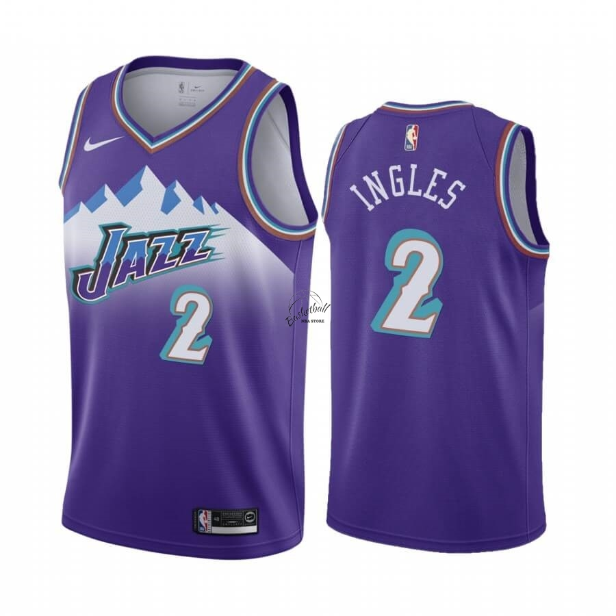 Choisir Maillot NBA Utah Jazz NO.2 Joe Ingles Pourprel Hardwood Classics 2019-20