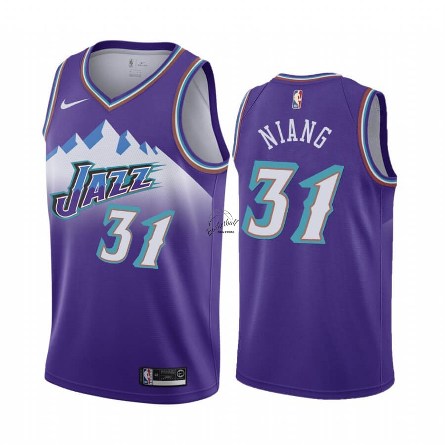 Choisir Maillot NBA Utah Jazz NO.31 Georges Niang Pourprel Hardwood Classics 2019-20