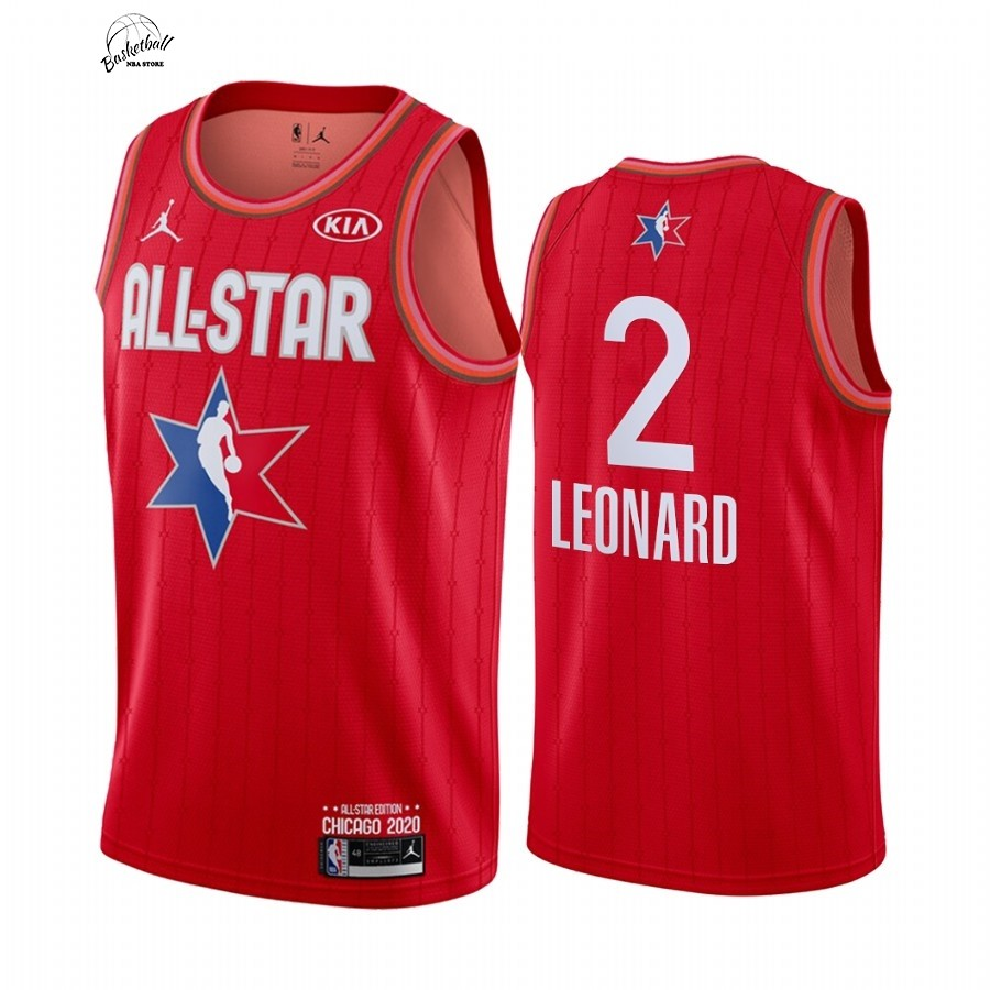 Choisir Maillot NBA 2020 All Star NO.2 Kawhi Leonard Rouge