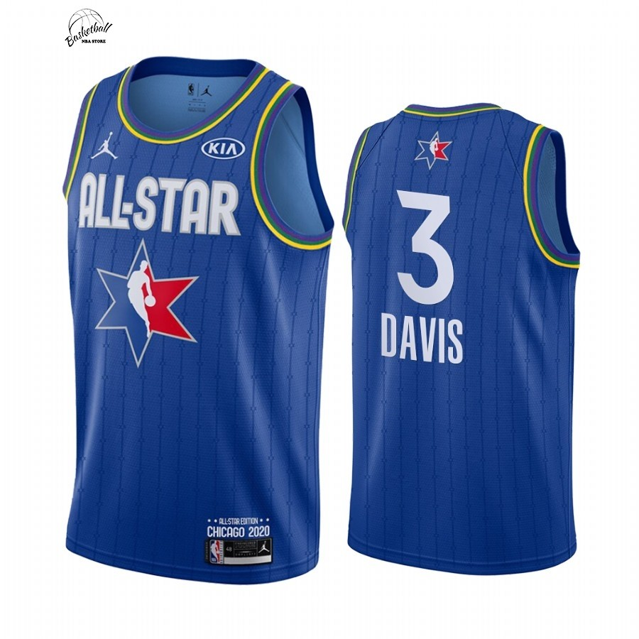 Choisir Maillot NBA 2020 All Star NO.3 Anthony Davis Bleu