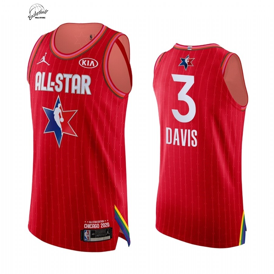 Choisir Maillot NBA 2020 All Star NO.3 Anthony Davis Rouge