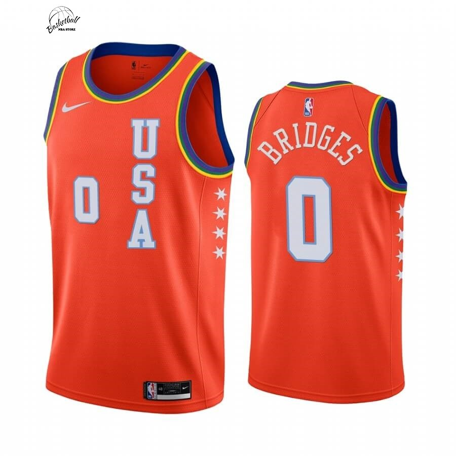 Choisir Maillot NBA 2020 Rising Star NO.0 Miles Bridges Orange