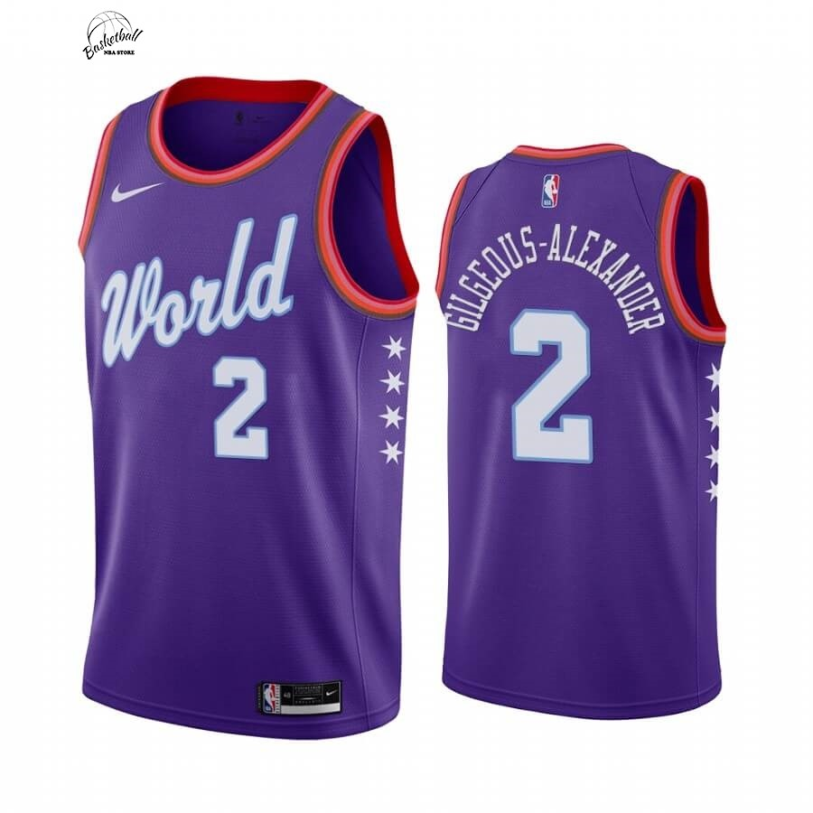 Choisir Maillot NBA 2020 Rising Star NO.2 Shai Gilgeous Alexander Pourpre