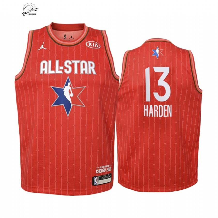 Choisir Maillot NBA Enfant 2020 All Star NO.13 James Harden Rouge