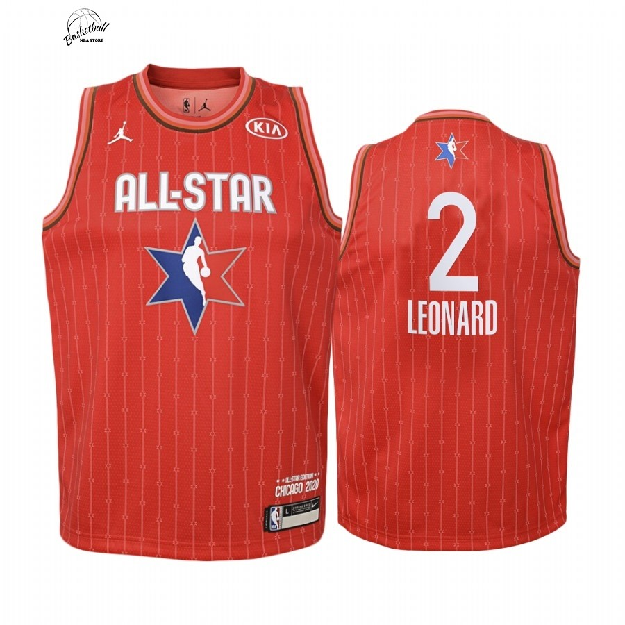 Choisir Maillot NBA Enfant 2020 All Star NO.2 Kawhi Leonard Rouge