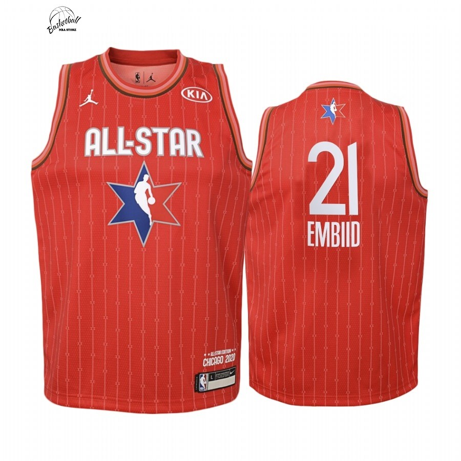 Choisir Maillot NBA Enfant 2020 All Star NO.21 Joel Embiid Rouge