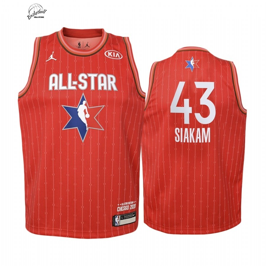 Choisir Maillot NBA Enfant 2020 All Star NO.43 Pascal Siakam Rouge