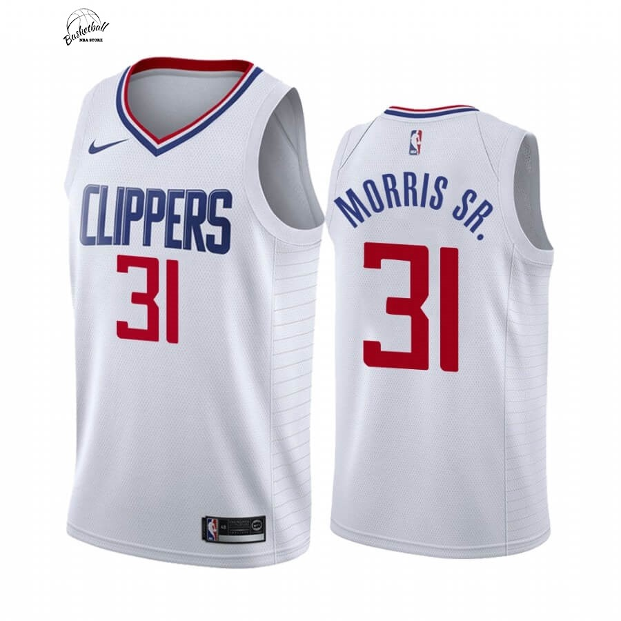 Choisir Maillot NBA Nike Los Angeles Clippers NO.31 Marcus Morris Sr. Blanc Association 2019-20