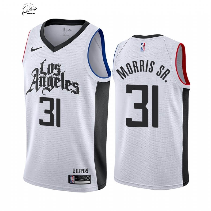 Choisir Maillot NBA Nike Los Angeles Clippers NO.31 Marcus Morris Sr. Blanc Ville 19 20