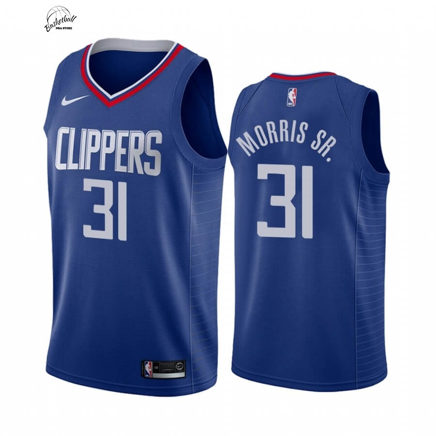 Choisir Maillot NBA Nike Los Angeles Clippers NO.31 Marcus Morris Sr. Bleu Icon 2019-20