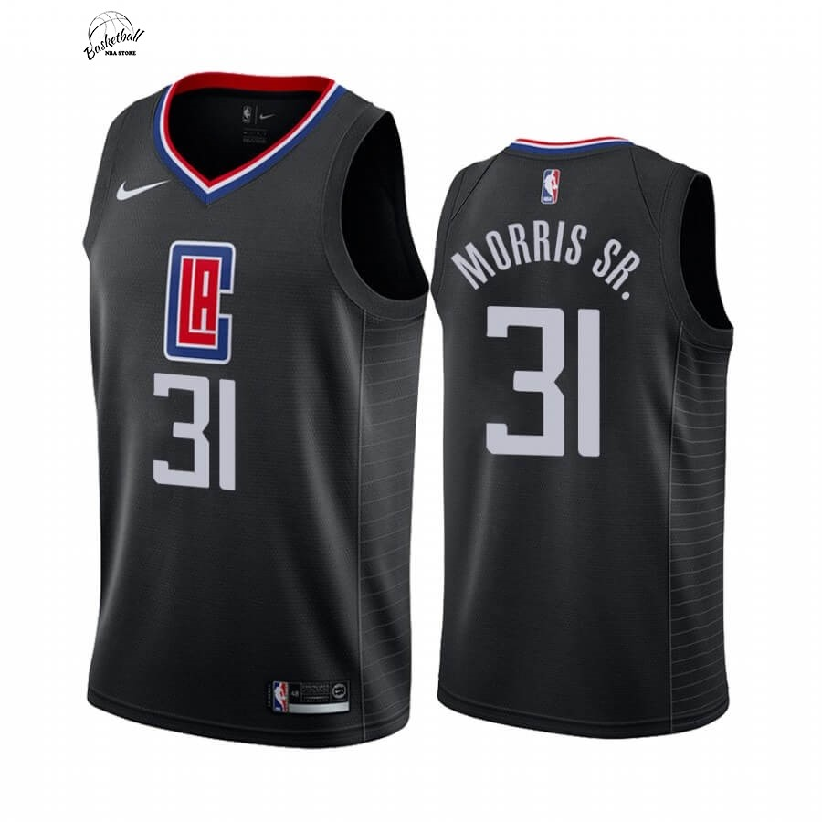 Choisir Maillot NBA Nike Los Angeles Clippers NO.31 Marcus Morris Sr. Noir Statement 2019-20