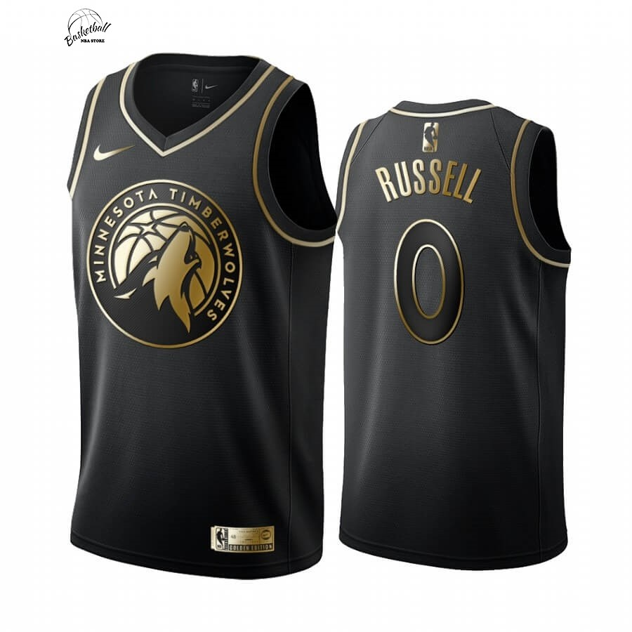 Choisir Maillot NBA Nike Minnesota Timberwolves NO.0 D'angelo Russell Or Edition 2019-20