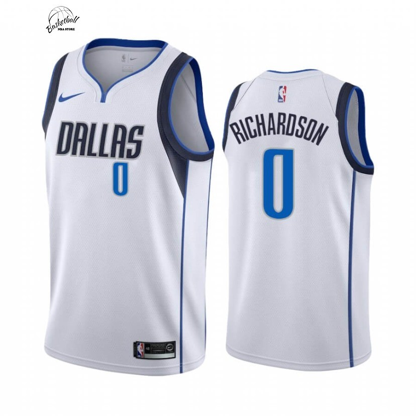 Choisir Maillot NBA Nike Dallas Mavericks NO.0 Josh Richardson Blanc Association 2020-21