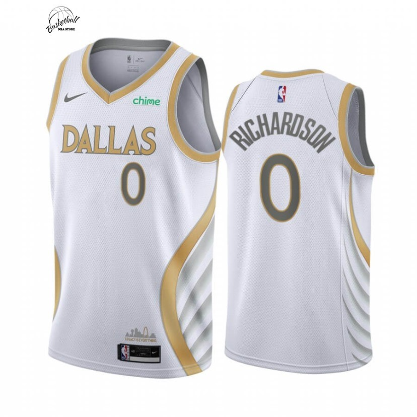 Choisir Maillot NBA Nike Dallas Mavericks NO.0 Josh Richardson Blanc Ville 2020-21