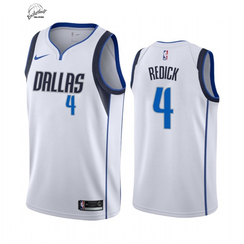 Choisir Maillot NBA Nike Dallas Mavericks NO.4 J.J. Redick Blanc Association 2021