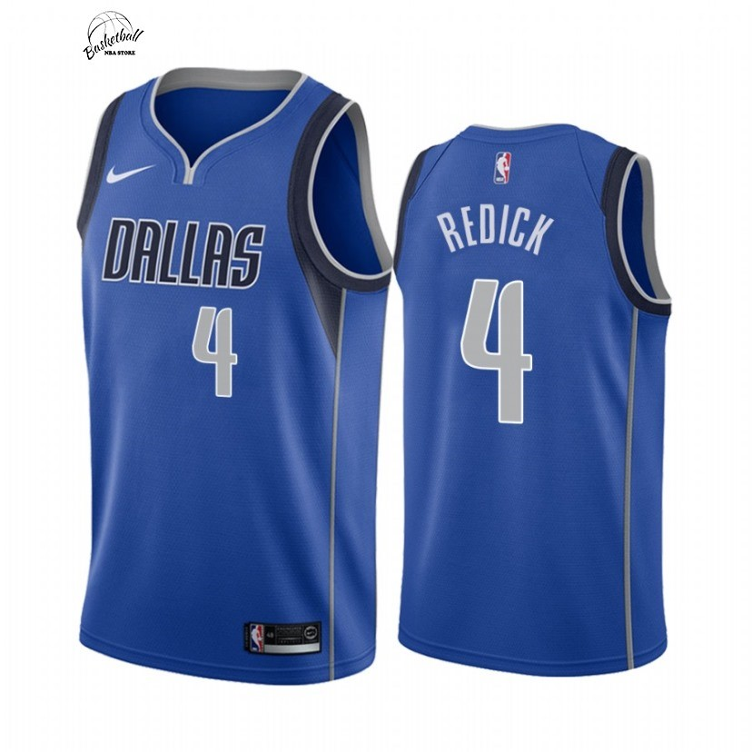 Choisir Maillot NBA Nike Dallas Mavericks NO.4 J.J. Redick Bleu Icon 2021