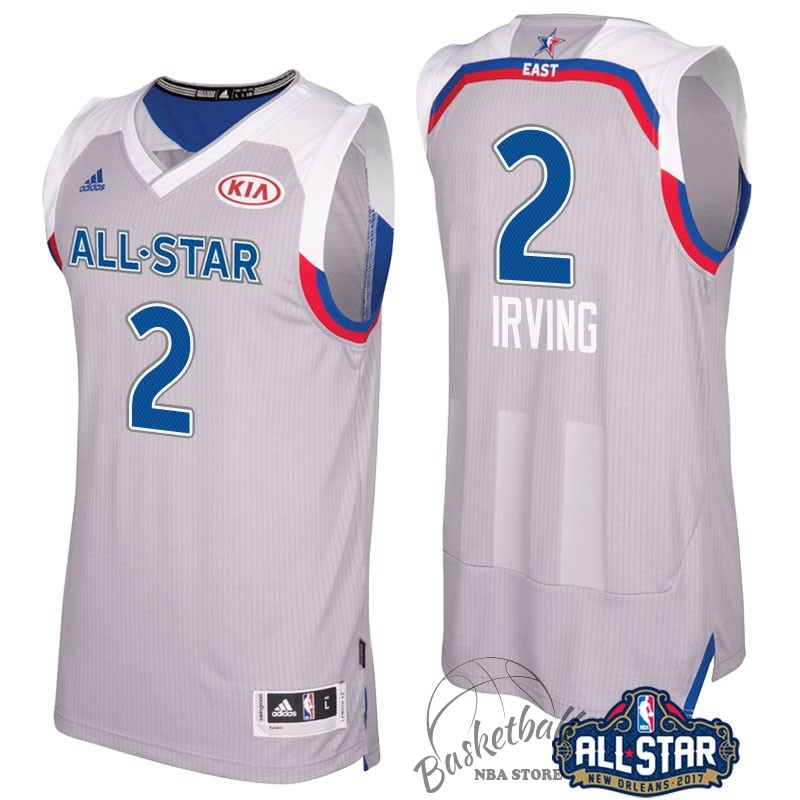 Choisir Maillot NBA 2017 All Star NO.2 kyrie Irving Gray